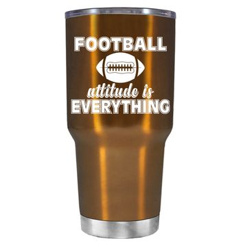 TREK Football Attitude is Everything on Copper 30 oz Tumbler Cup