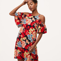 Tropic Cold Shoulder Swing Dress | LOFT