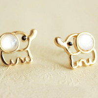Super Cute Elephant Earrings stud