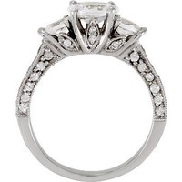 Oval Three Stone Engagement Ring 0.25pt