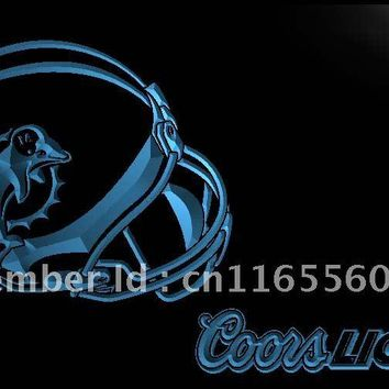 LD466- Miami Dolphins Helmet Coors   LED Neon Light Sign     home decor  crafts