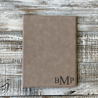 Personalized Leather Folder with Initials