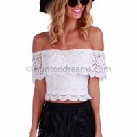 Serendipity Crop - White Lace