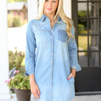 Fall Harvest Chambray Dress