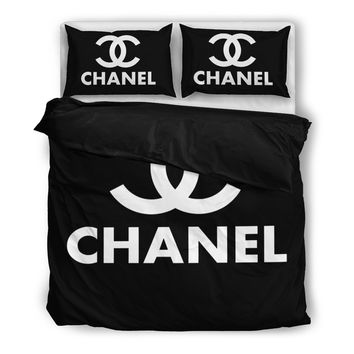 Chanel Inspired Duvet Bedding Set - 2 Colors Available