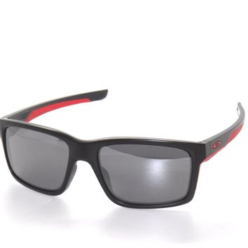 OAKLEY SUNGLASSES MAINLINK 9264-12 MATTE BLACK/BLACK IRIDIUM