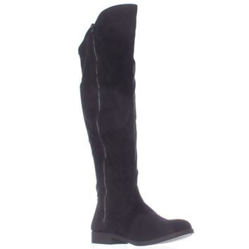SC35 Hadleyy Wide Calf Knee High Boots, Black, 5 US