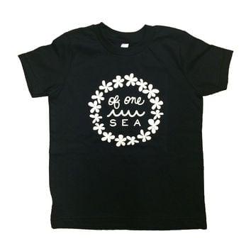 Kid's Black T-Shirt with Lei Logo
