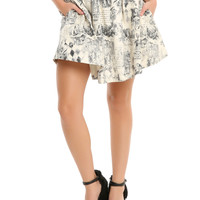 Alice In Wonderland Storybook Print Circle Skirt