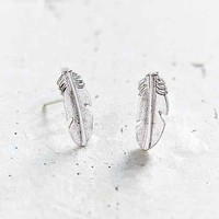 Urban Renewal Silver Feather Stud Earring