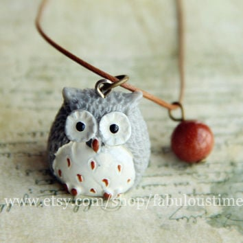 Cute Owl Necklace,beautiful lovely Owl necklace,best gift for lover Birthday gift and Christmas Gift Alloy pendant