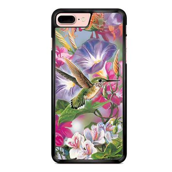 Hummingbirds And Flowers iPhone 8 Plus Case