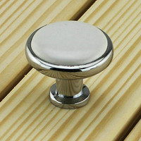 White Knob Dresser Knobs / Drawer Knobs Pulls Handles Ceramic Knobs / Kitchen Cabinet Knobs Silver Furniture Knob Pull Handle Hardware