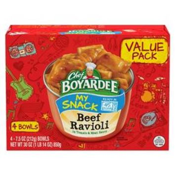 Chef Boyardee Beef Ravioli 7.5 oz 4 ct