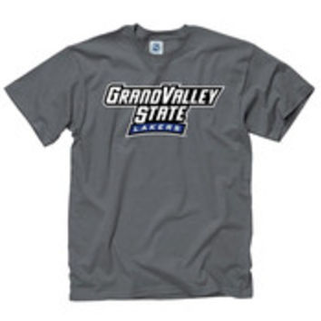 Grand Valley State Lakers Mens Grey Rally Loud Short Sleeve T Shirt - 22781263