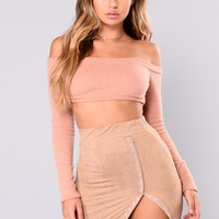 Sonya Off Shoulder Top - Nude
