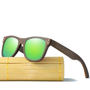 Bamboo Sunglasses Brand Wooden Sun Glasses With Wood Case