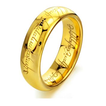 LUBINGSHINE Stainless Steel Ring Men Simple Vintage Three Color Lord Of The Rings For Couple Cheap Wedding Bands Jewelry R319