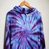 American Apparel Tie Dye Hoodie Purple/Blue Swirl