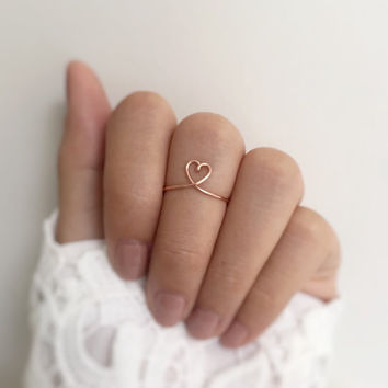 Best Wire Heart Ring Products on Wanelo