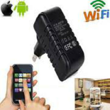Full HD 1080P Wireless WiFi Spy Charger Hidden Camera