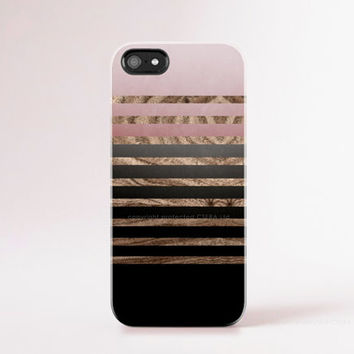 Blush Pink iPhone 6 Plus Case Wood Print Pink iPhone 6 Case Winter iPhone 5 Case Stripe iPhone Case iPhone Case Black Brown Minimal Chic