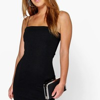 Petite Tia Crepe Square Neck Bodycon Dress