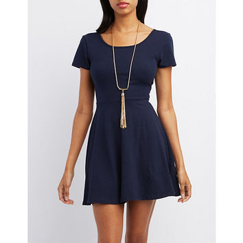 Scoop Neck Skater Dress