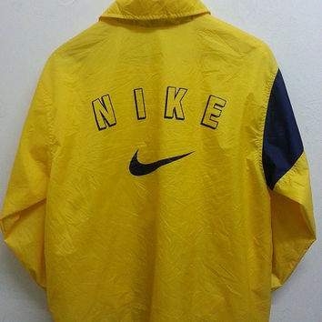 Sale Vintage 1990s Nike Swoosh Windbreaker Hip Hop Style Raincoat Jacket