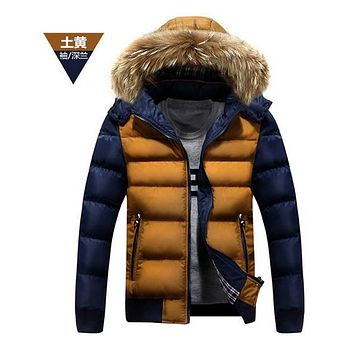Fashion winter parkas 2017 Winter Jacket  men's warm parka coat  Men padded Winter Jacket Casual Handsome Winter Coat