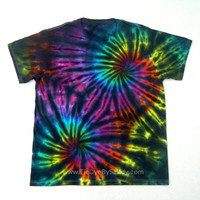 Large Tie Dye Shirt- Inverted Rainbow Double Spiral- Valentine's Day gift for him- Valentines Day gift for her