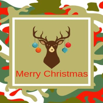 Camouflage Christmas - Waterproof Personalized Wine Bottle Label