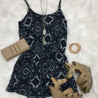 Paisley Pocket Romper