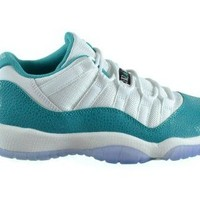 Jordan 11 Retro Low GG Big Kids Basketball Shoes White/Turbo Green-Volt Ice-Black 580521-143  Jordan 11