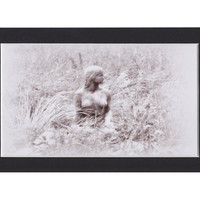 Virginia Fine Art Print, Winter Maid, Black and White Photography, Ready to Frame