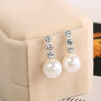 Fashion Set Auger Pearl Earrings