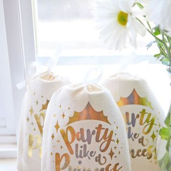 Party Like a Princess Gold Goody Bags