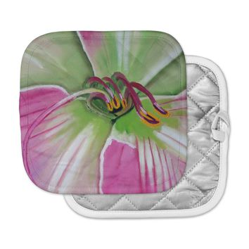 """Cathy Rodgers """"Pink and Green"""" Flower Pot Holder"""