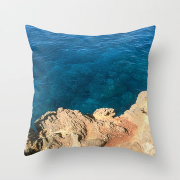 On the Edge Throw Pillow by Kelli Schneider