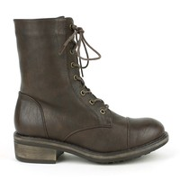 Mark and Maddux Wii-02 Lace-up Combat Boots in Brown @ ippolitan.com