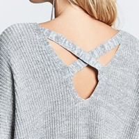 Crisscross-Back Ribbed Sweater