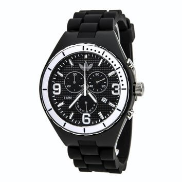 Adidas ADH2608 Men's Cambridge Black Dial Silicon Rubber Strap Chronograph Watch