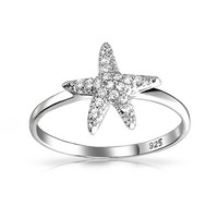 Bling Jewelry Rock Starfish Ring