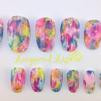 """Hand Painted 20pc """"Magically De-Lish-ous"""" Press On Nail Set"""