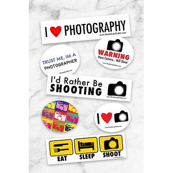 Sticker Photographer Sticker Pack - Set Of 3
