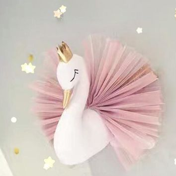 Swan Wall Hanging Nursery Decor For Kids Room