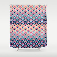 Feathered 1 - Long Shower Curtain by Elisabeth Fredriksson