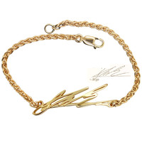 Signature Bracelet: 14K Gold Bracelet With Handwriting Of Your Loved Ones