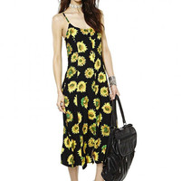 Sunflower Printed Strap Maxi Dress