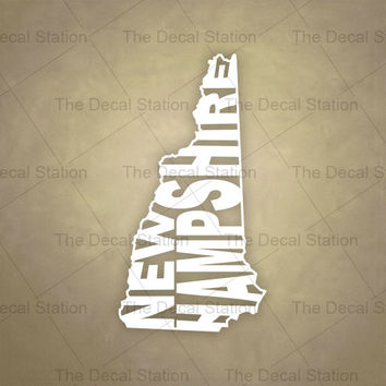 New Hampshire Vinyl Decal Sticker for Car Truck Auto. Word Art . US State Pride.